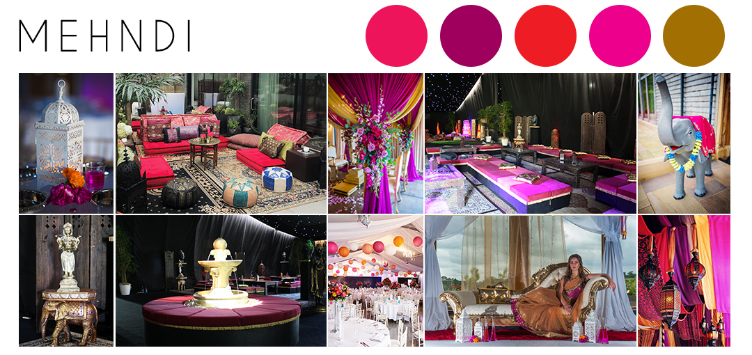 Mehndi wedding theme inspiration moodboard