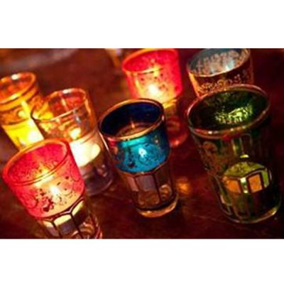 moroccan votives mehndi wedding decor