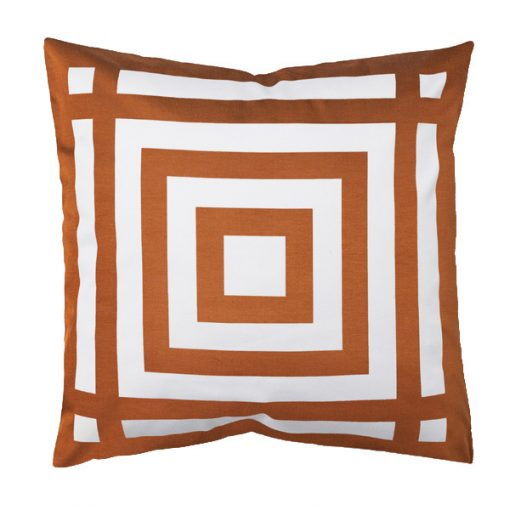 copper pattern cushion wedding decor hire