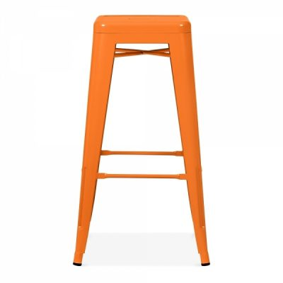 orange tolix stool wedding hire