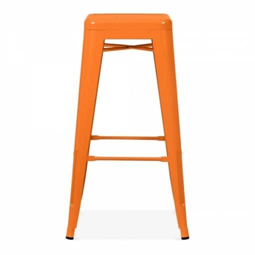orange tolix stool wedding hire