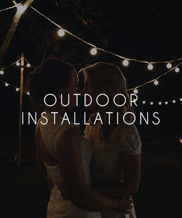 More Weddings outdoor installations