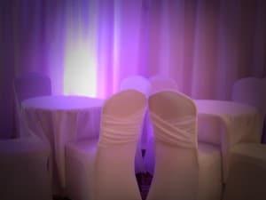 plain white lycra chair covers