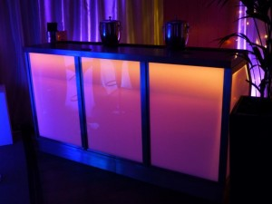 stainless steel colour changing LED bar