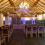 Ceremony fairy light canopy