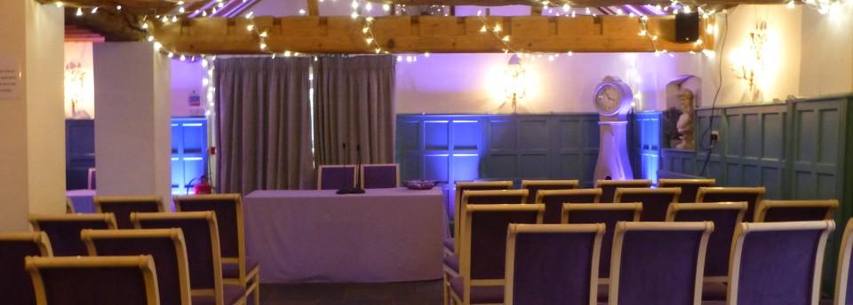 Ceremony fairy light canopy