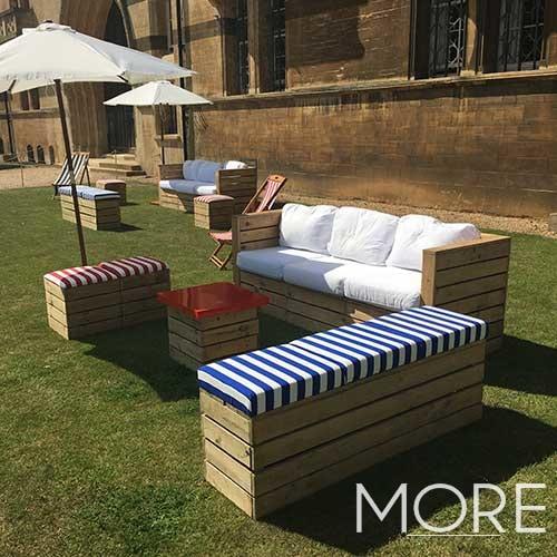 Rustic Modular 3 Seater Sofa hire