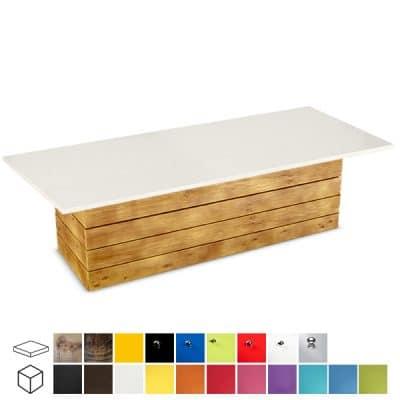 pallet large rectangular coffee table wedding hire
