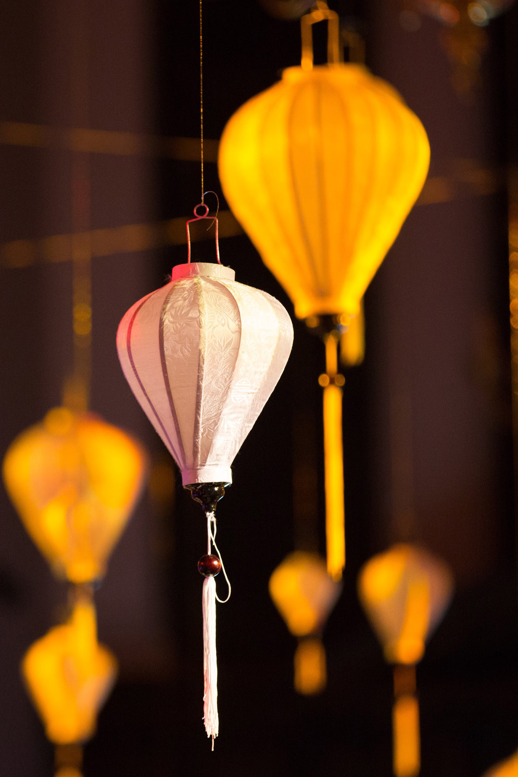 wedding paper lantern hire