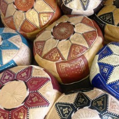 moroccan pouffes mehndi wedding theme
