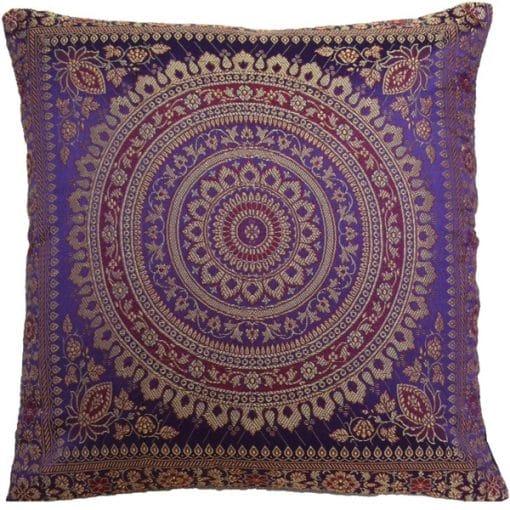 purple Moroccan cushion mehndi wedding decor
