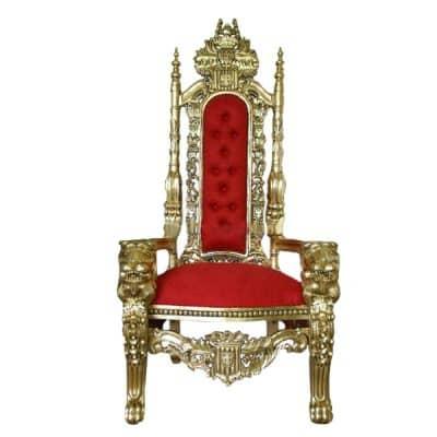 queen throne prop hire wedding decor