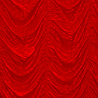 red cabaret drape wedding hire