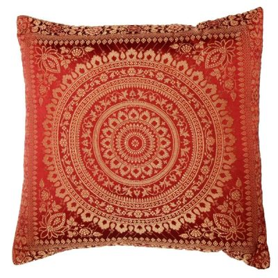 red moroccan cushion mehndi wedding decor
