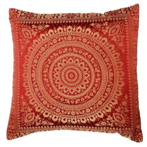 red moroccan cushion mehndi wedding decor