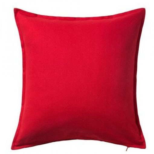 red cushion wedding decor hire