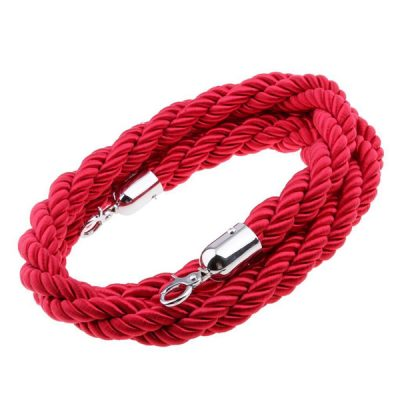 red post rope wedding decor hire