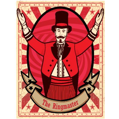 large circus poster circus wedding theme