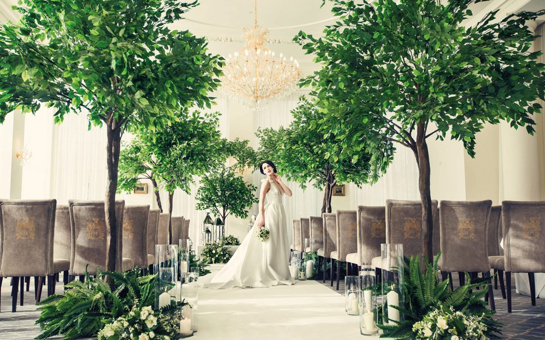 Artificial Trees Wedding Styling