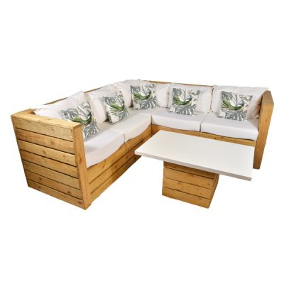 pallet sofa wedding hire