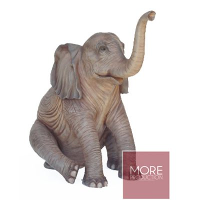 sitting elephant prop hire circus and mehndi wedding theme