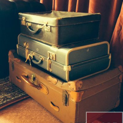 vintage suitcase prop hire wedding decor