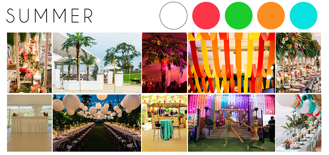 Summer wedding theme inspiration moodboard