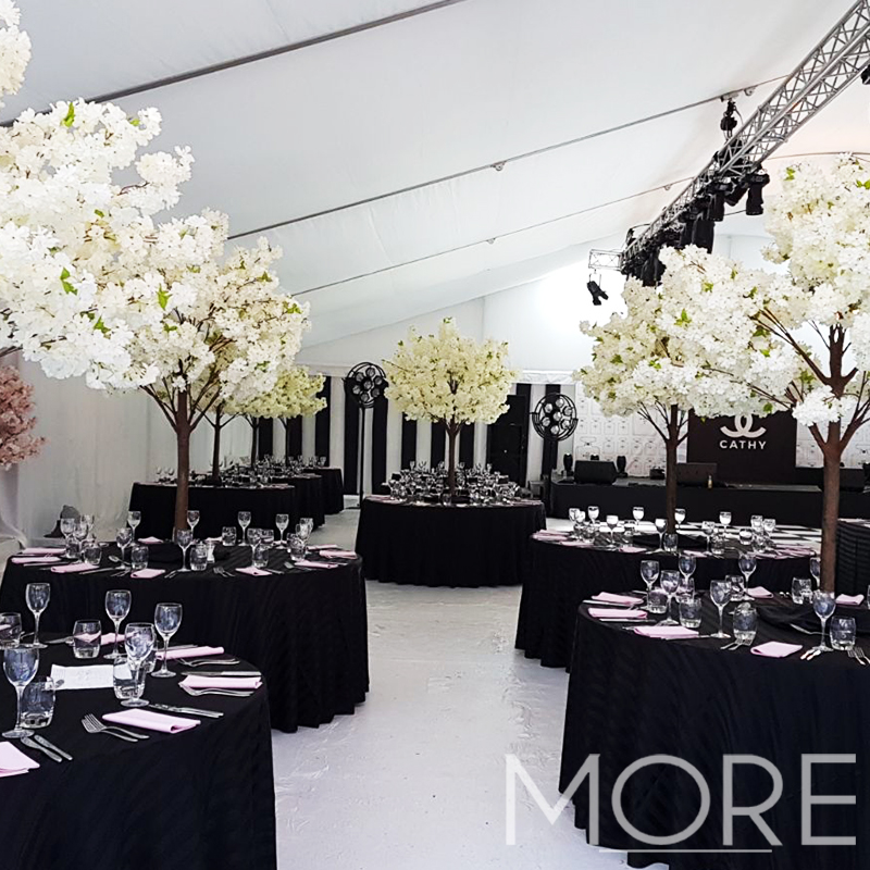More Weddings white blossom tree hire