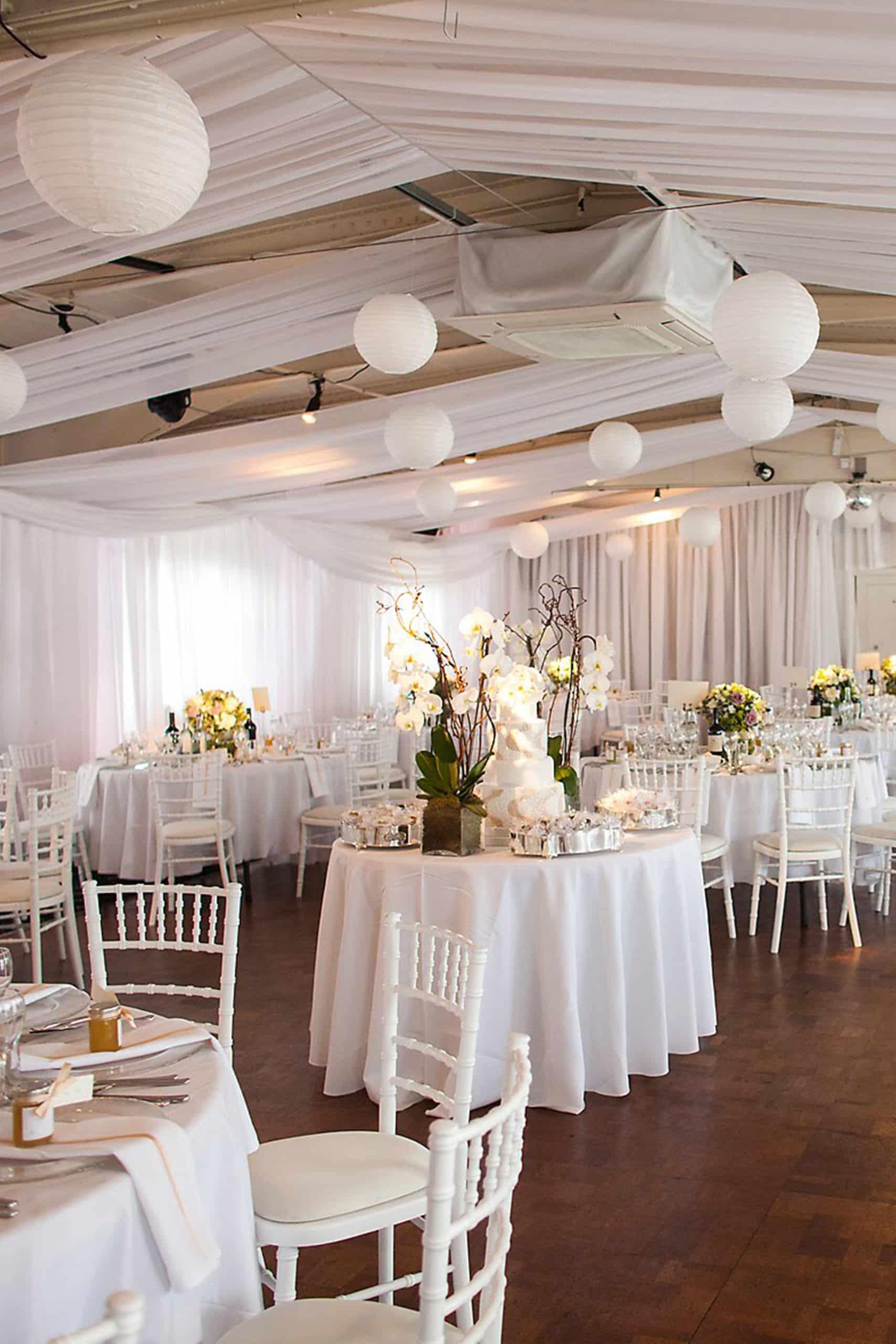 More Weddings white wall drapes