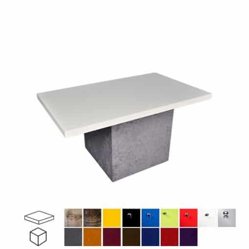 velour rectangular coffee table wedding hire