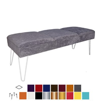 velour ottoman bench wedding hire