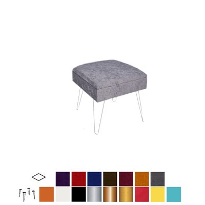 velour ottoman stool wedding hire