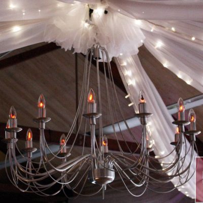 verona chandelier wedding decor hire