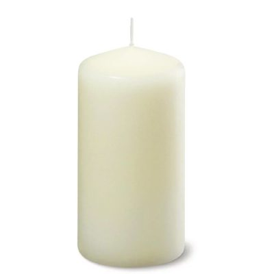 wax pillar candle wedding hire