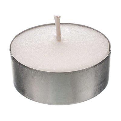 wax tea light candle wedding hire