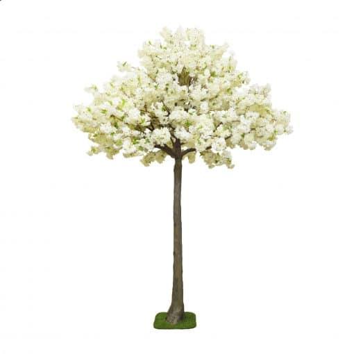 white blossom tree hire wedding decor