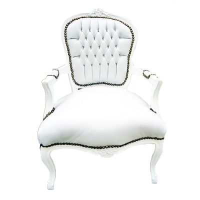 white arm chair wedding hire