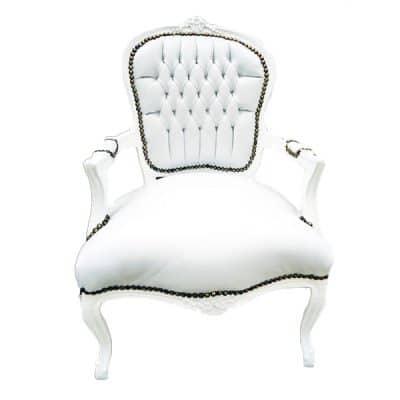 white arm chair wedding hire
