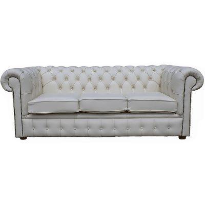white chesterfield wedding hire