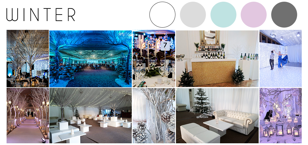 Winter wedding theme inspiration moodboard