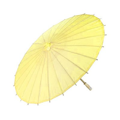yellow paper parasol mehndi wedding decor