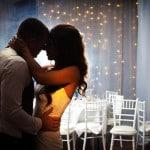 fairy light curtain wedding backdrop