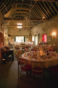 barn fairy light canopy