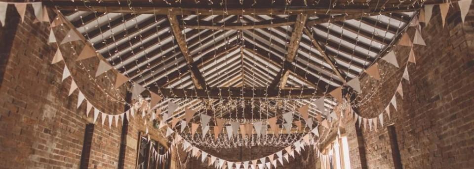 barn fairy light canopy
