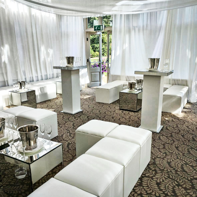 white wedding furniture hire
