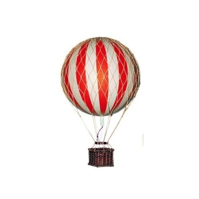 small hanging hot air balloon circus wedding theme