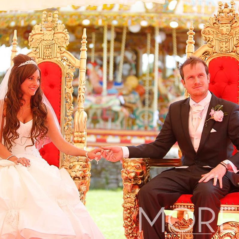 More Weddings throne hire wedding decor