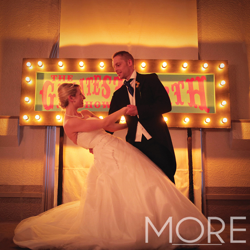 More Weddings the greatest showman circus prop hire weddings