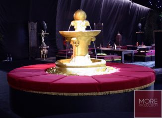 gold fountain wedding hire