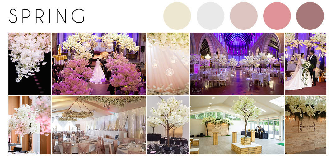 Spring wedding theme inspiration moodboard